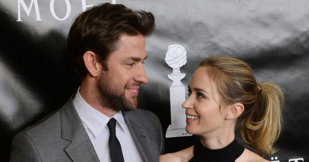 John Krasinski and Emily Blunt Haven't Told Their Kids They're Famous