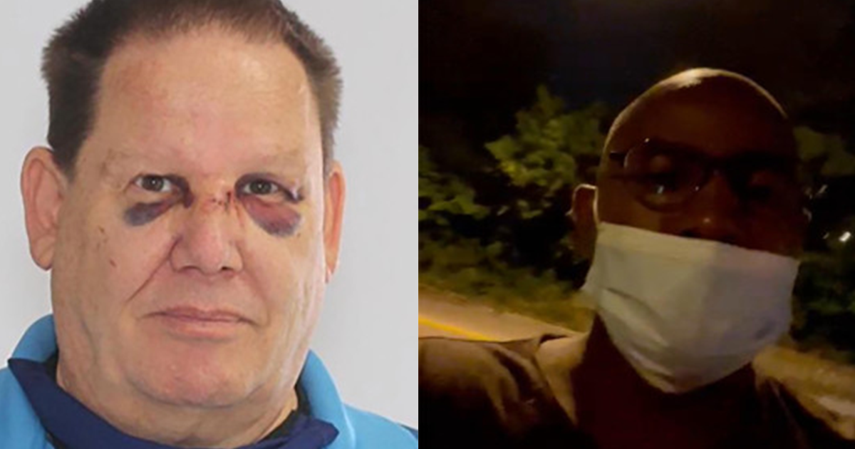 Racist Drunk Threatens Black Driver, Calls Him The N Word, Attacks His Car And Falls Flat On His Face