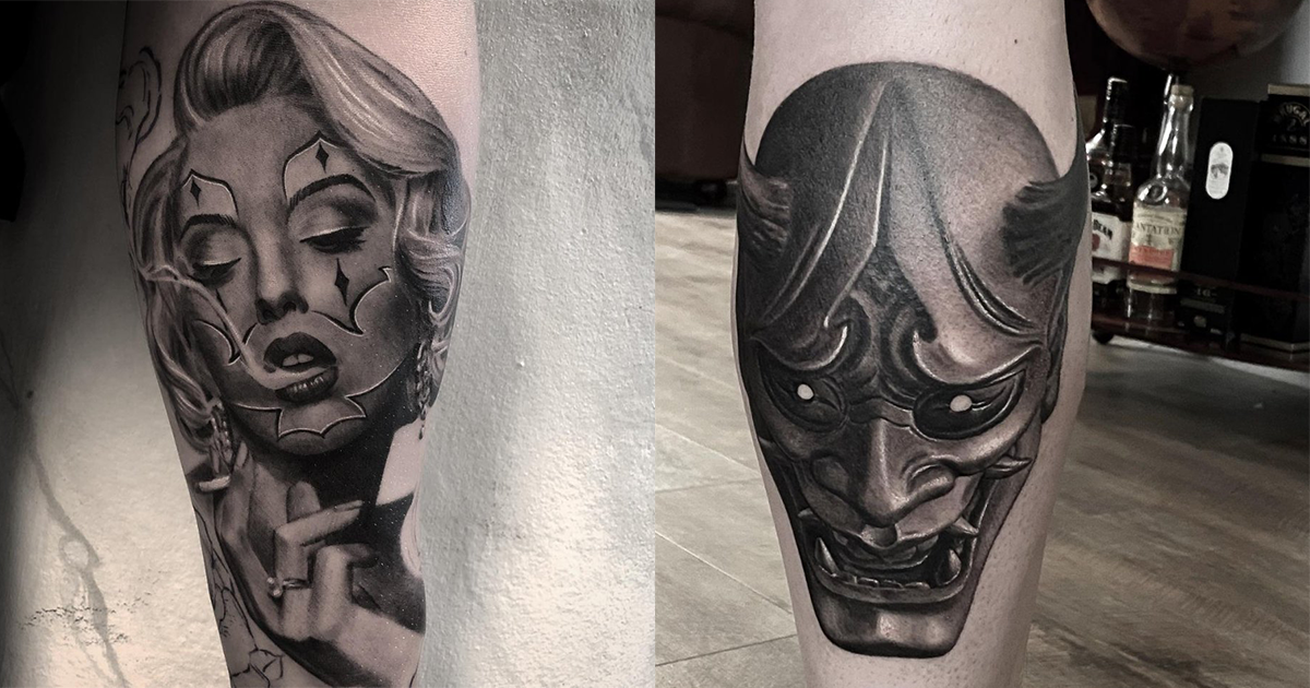Black & White, Hyper Realistic Tattoos That We Love, Love, Love