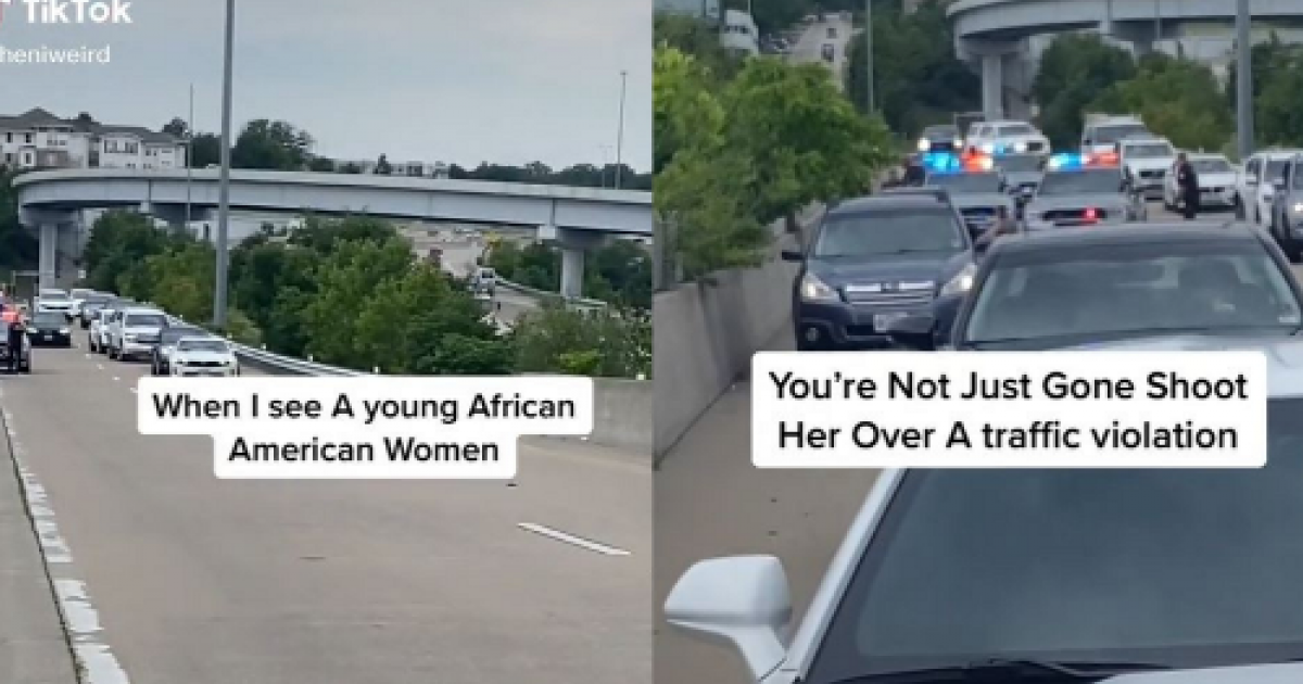 Amazing Moment Several Drivers Pull Over To Make Sure Black Woman Stopped By Cops Is Safe In Viral Video
