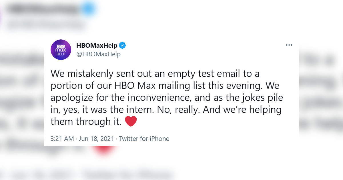 This HBO Max Intern Failed So Hard That He Became A Meme But It's All In Good Fun
