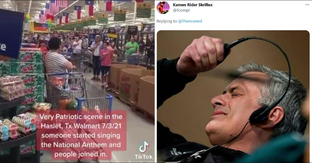 Entire Walmart Breaks Out Singing The National Anthem And The Internet Is Split Down The Middle