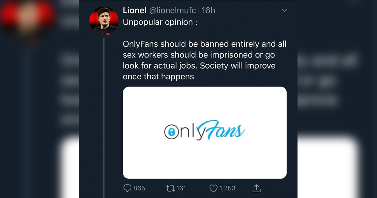 This Guy Got Called Out After Saying OnlyFans Should Be Banned