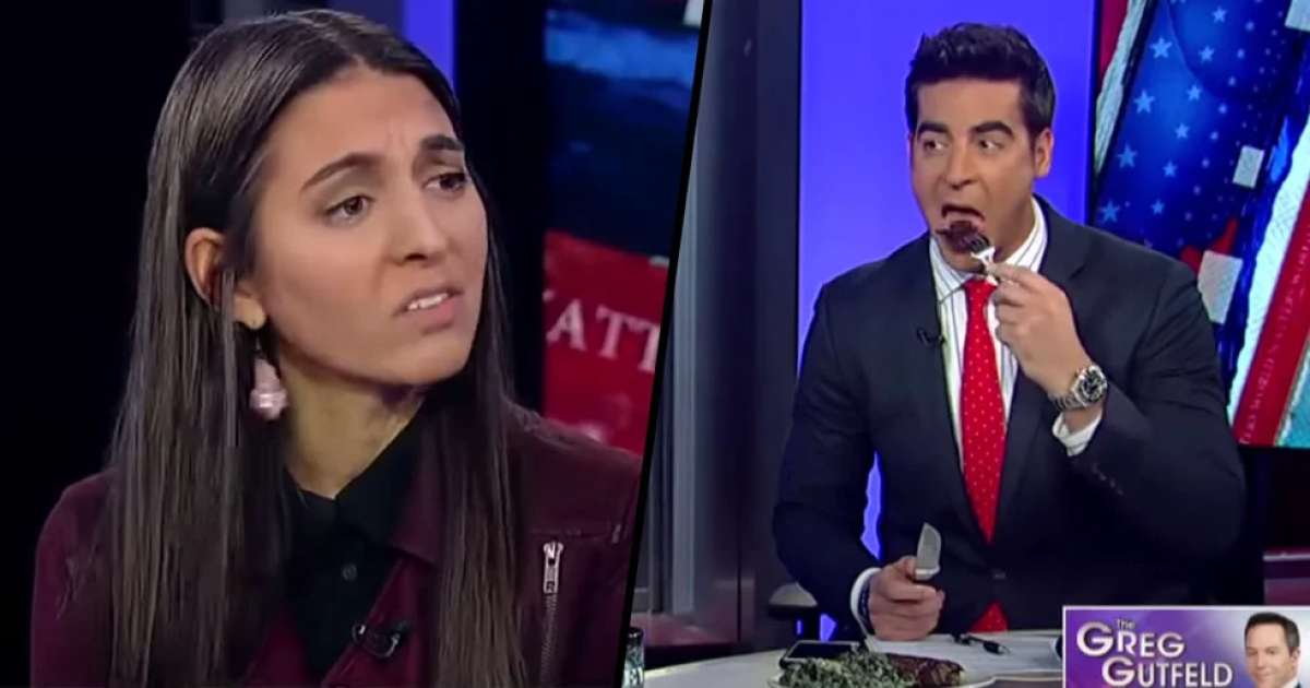 This Fox News Anchor Ate A Steak In Front Of A Vegan As They Chatted About Toxic Masculinity