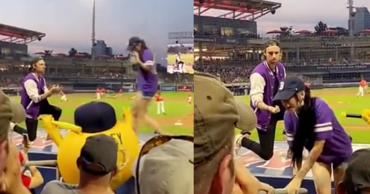 Man's Marriage Proposal Goes Terribly Wrong As Woman Runs Away From Partner In Front of Packed Baseball Stadium