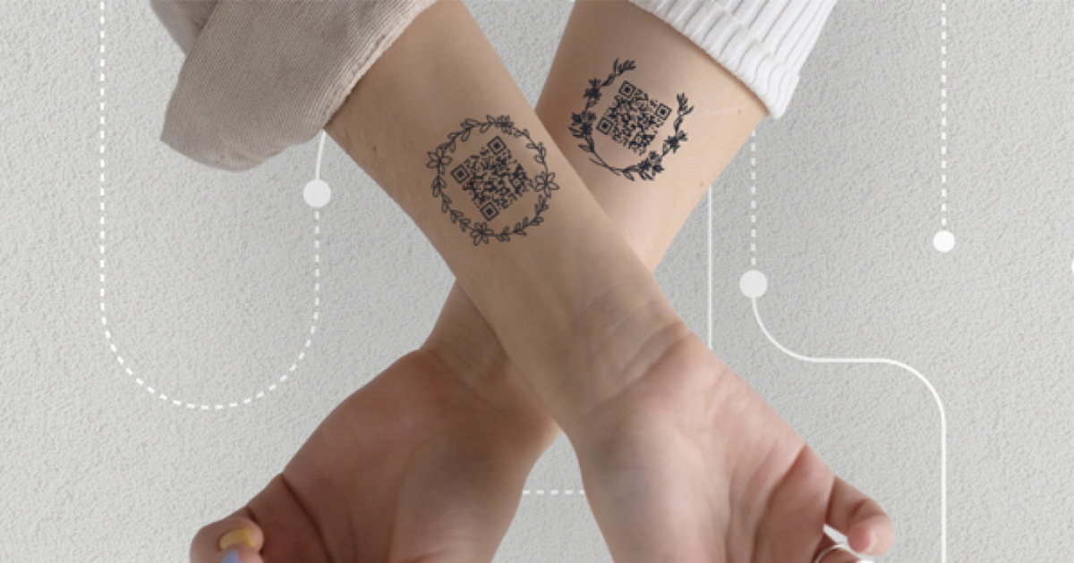 Russian Restaurateurs launch food delivery QR Code tattoos