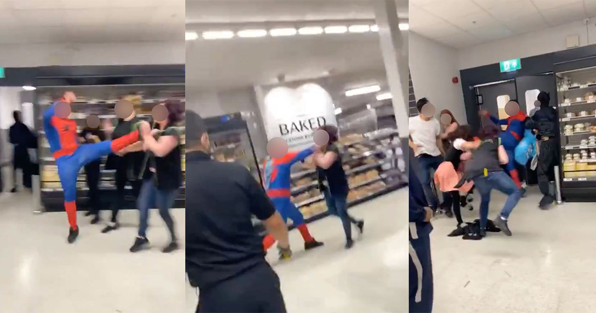 Man Dressed As Spider Man Punched Female Asda Worker Unconscious