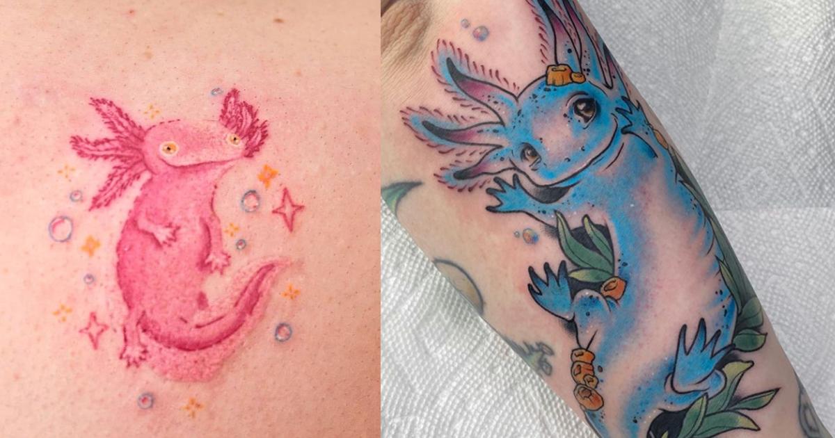Lots Of Love For Axolotl Tattoos