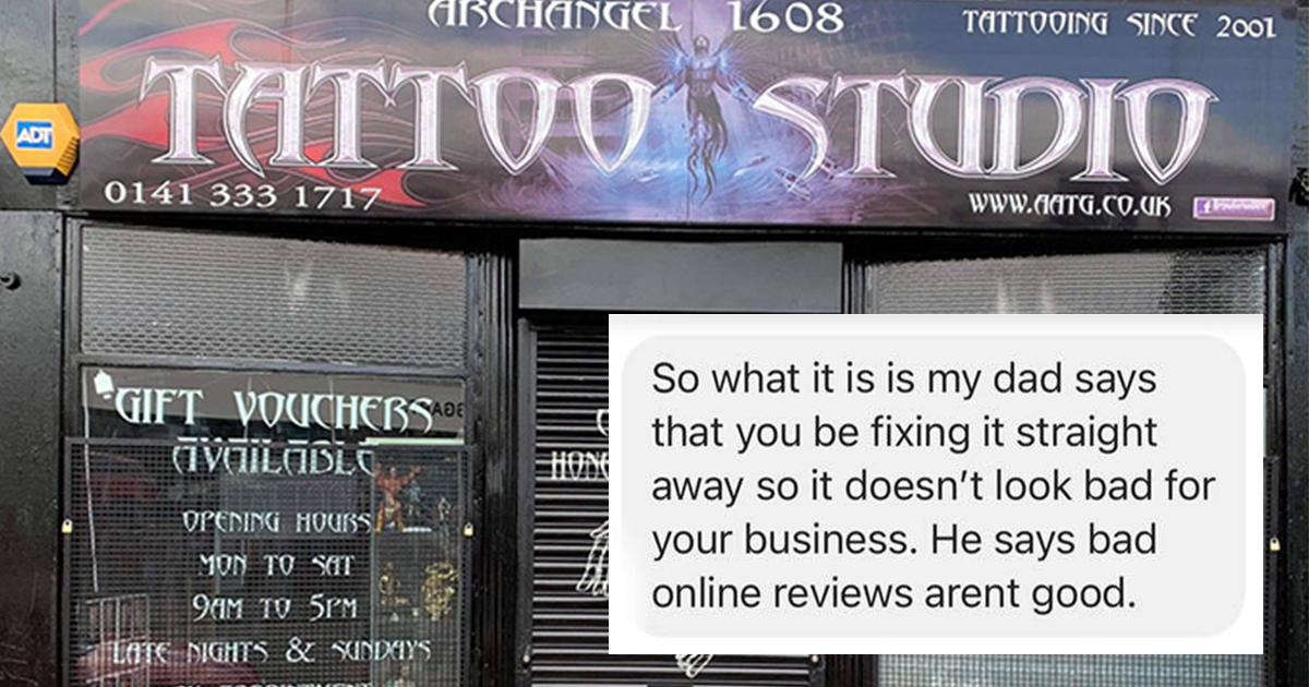 Tattoo Artist Rips Into Customer Threatening Him With Bad Review
