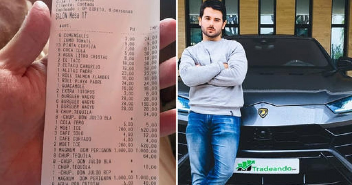Man Bashed For Complaining About Waiter's Tip After Spending $4,8OO On Burger And Champagne Dinner