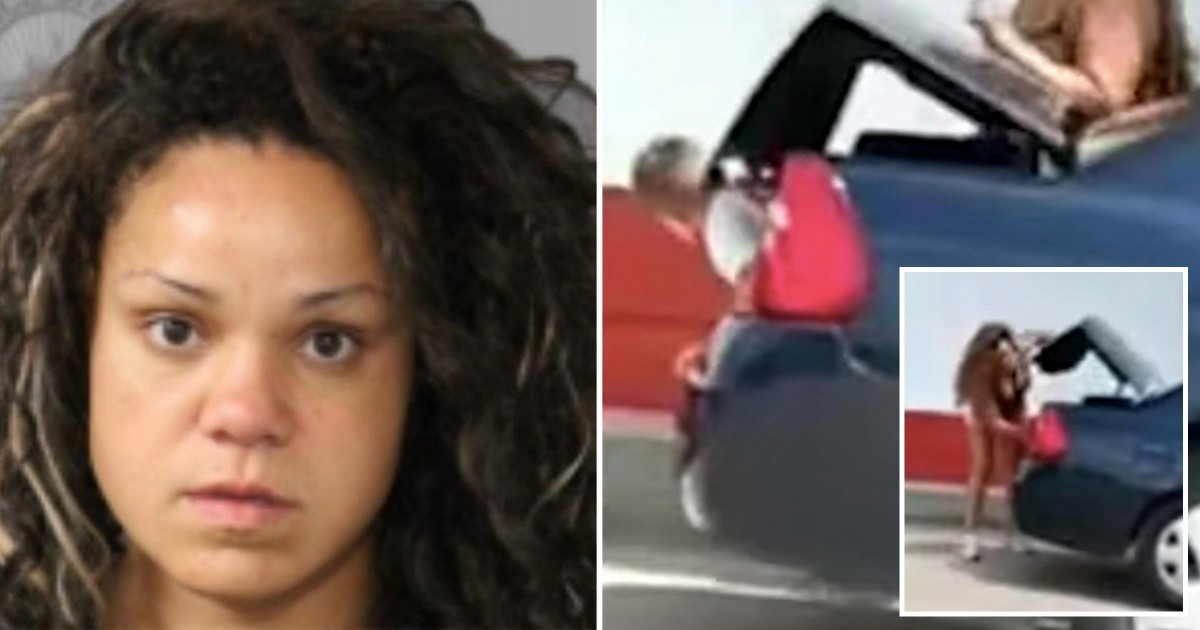 Woman Arrested After Viral Footage Catches Her Allegedly Forcing Child Into Car Trunk