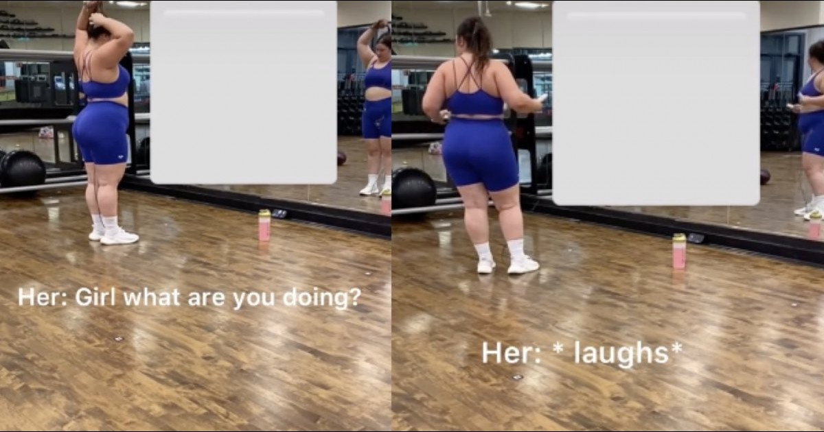 Woman Mocks And Laughs At Plus-sized Influencer At Gym