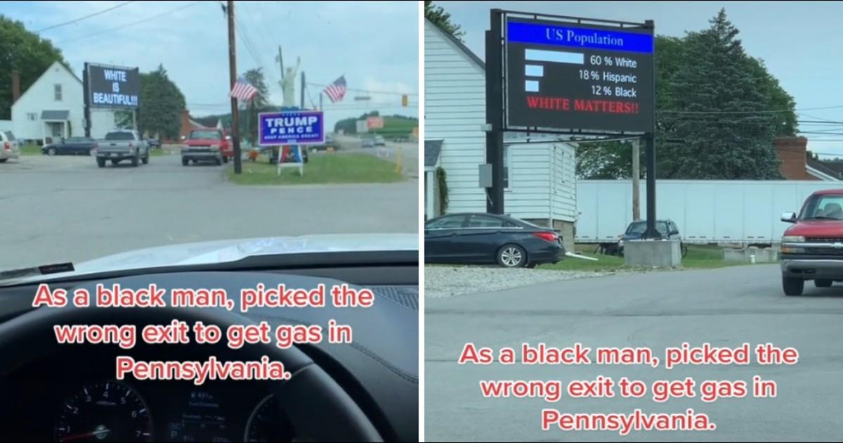 Man Is Shocked To See Racist Billboard On Highway