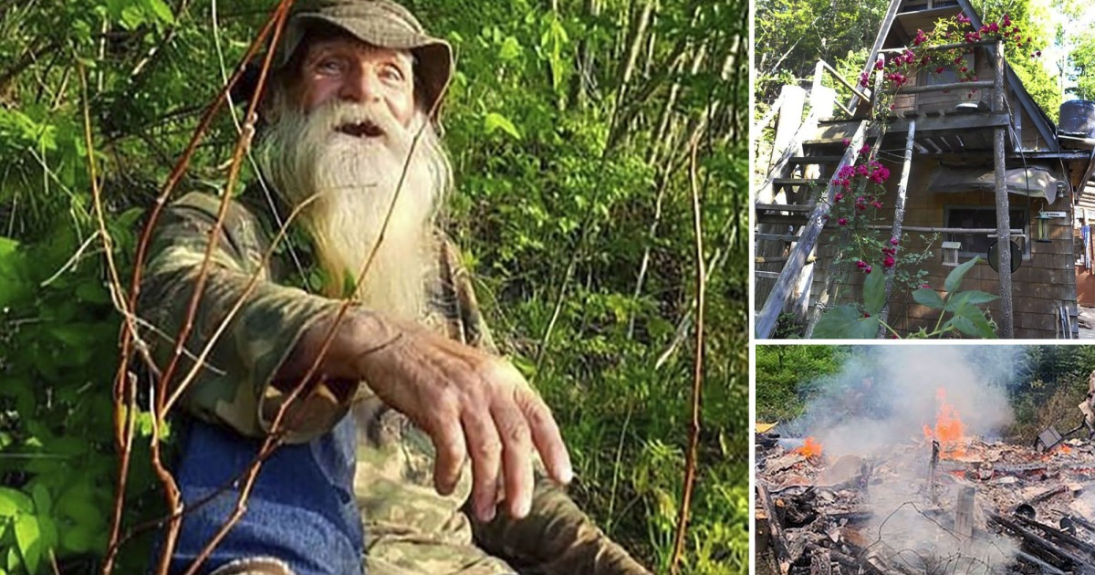 Tech Billionaire Give $180,000 To Ousted Hermit To Rebuild Cabin That Was Destroyed By Fire