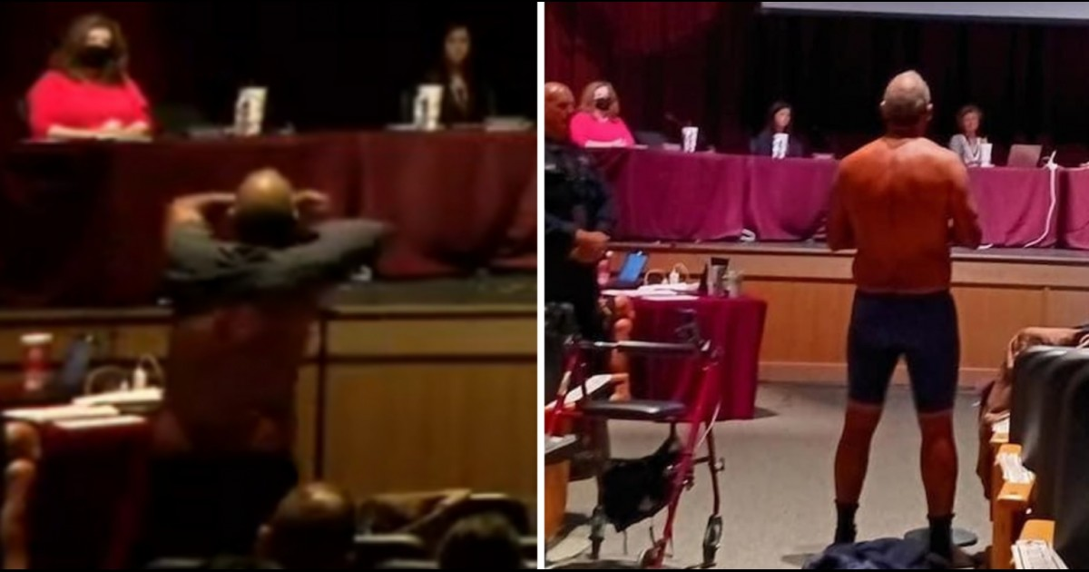 Texas Dad Strips To Underwear At School Board Meeting To Make A Point About Wearing Masks At School