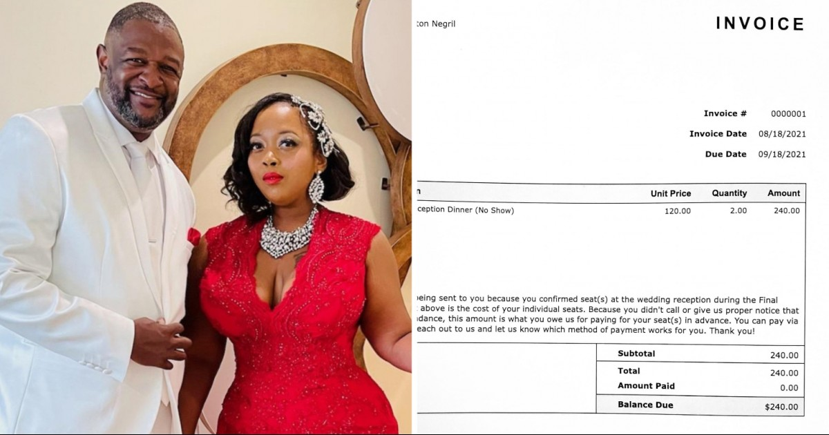 Chicago Newlywed Couple Sends $240 Invoice To Guests Who Didn't Attend The Wedding