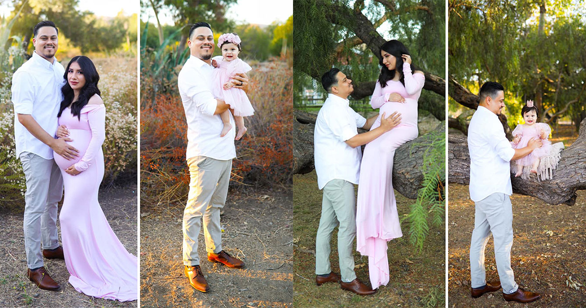 Husband Recreates Photoshoot With 1-year Old After Wife's Death