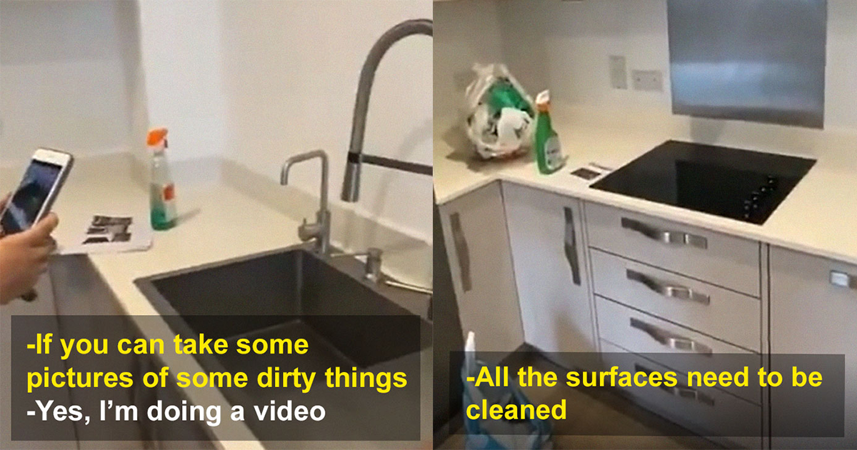 Landlord Shows 'Filthy' Apartment On Camera When It's Actually Spotless.