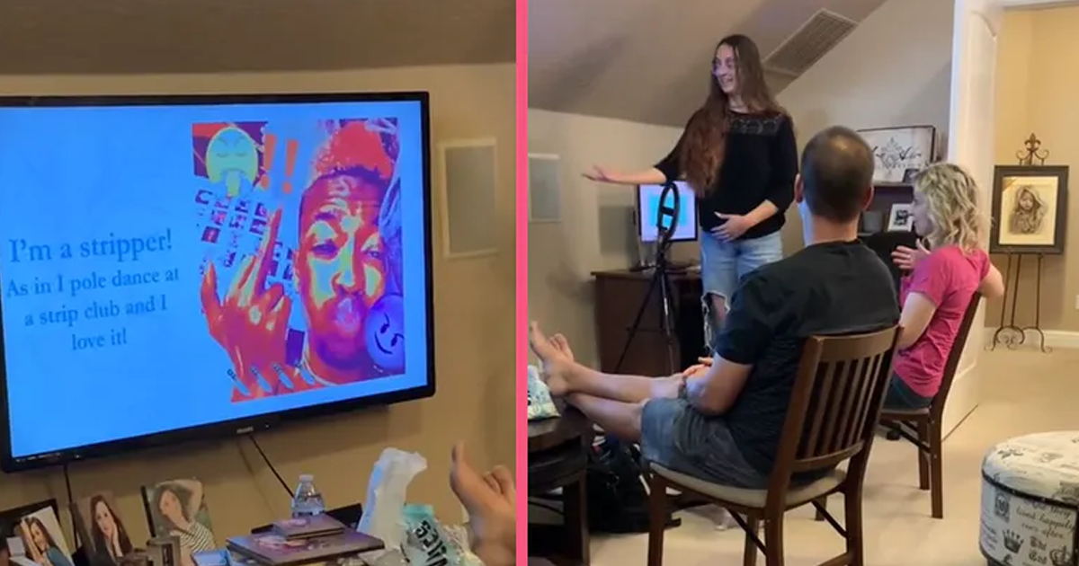 Woman Tells Parents She's A Stripper In A Powerpoint Presentation