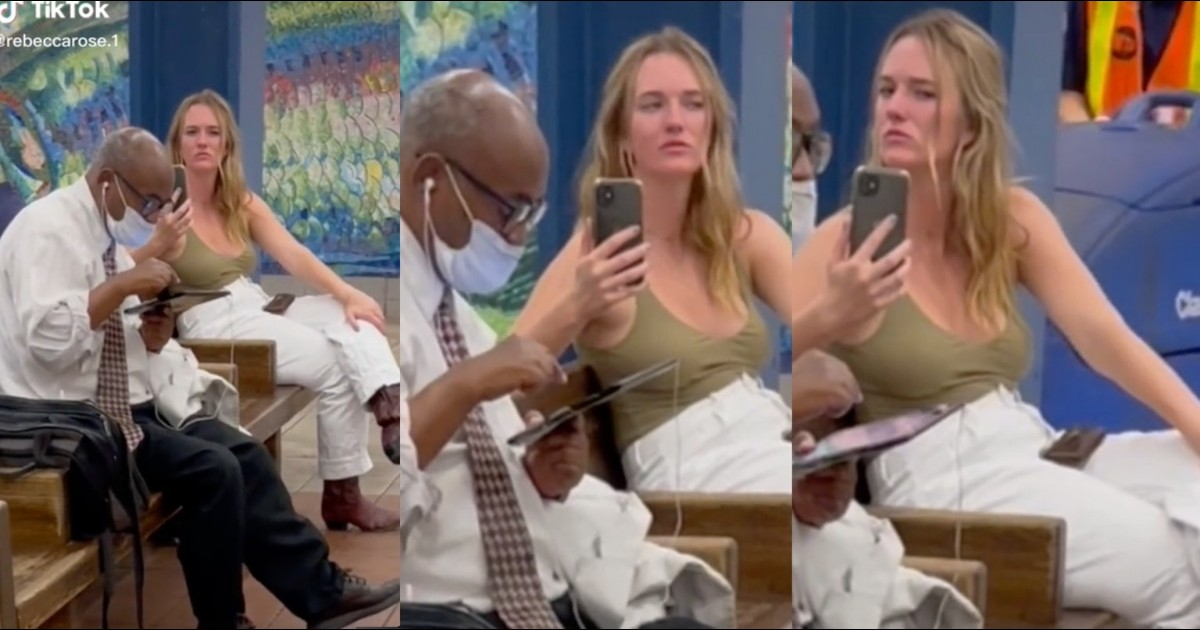 Racist Woman Intrusively Films Black Man Minding His Own Business
