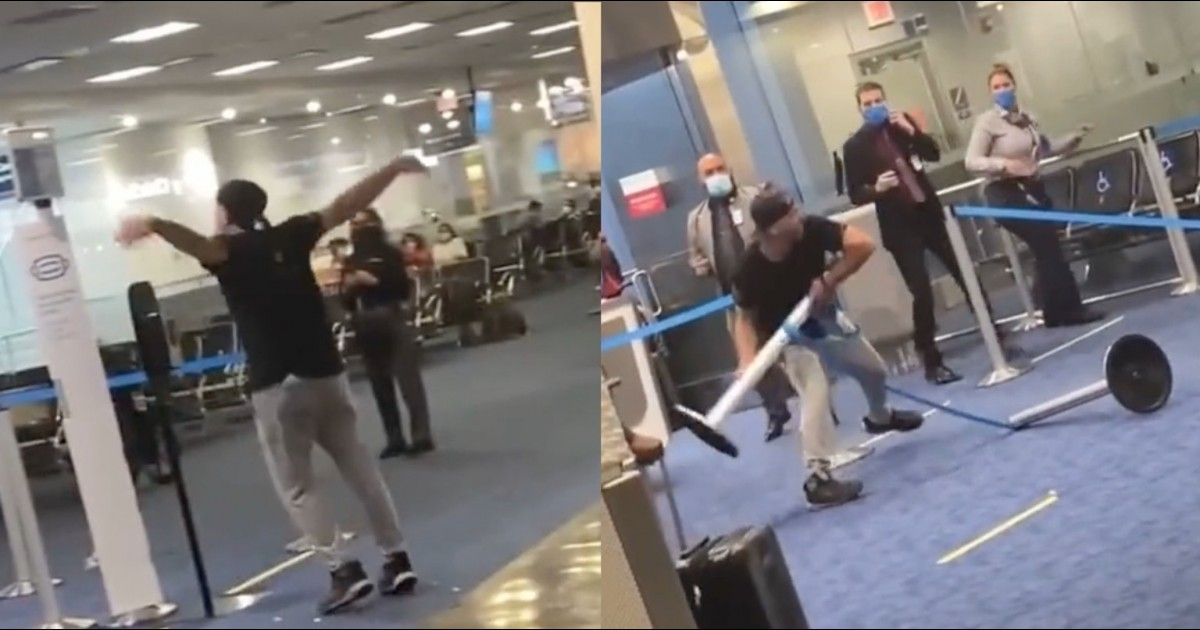Racist Man Violently Attacks Bystanders In Miami Airport