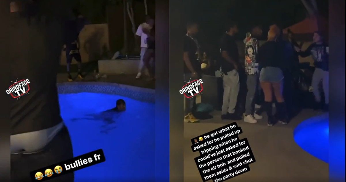 Horrible Airbnb Guests Shove Host Into Pool