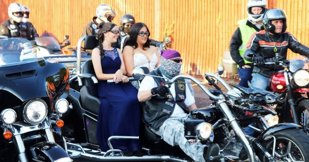 Schoolgirl Tortured For Years By Bullies Accompanied To Prom With 300 Bikers