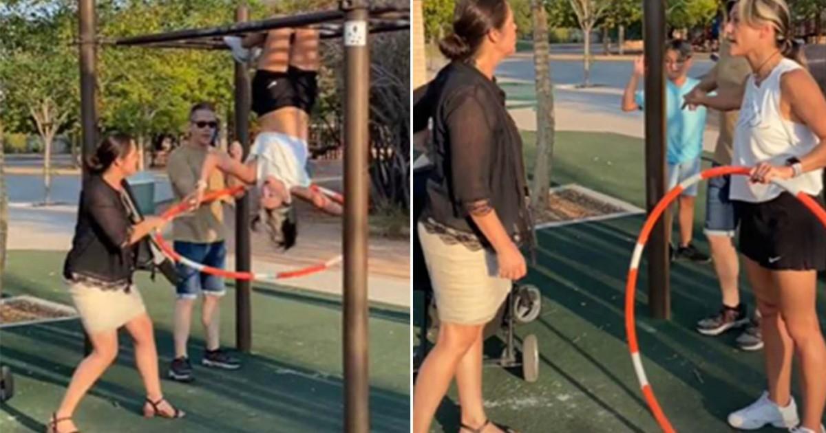 Woman Shames TikToker On Her Sports Bra While Exercising At Public Park