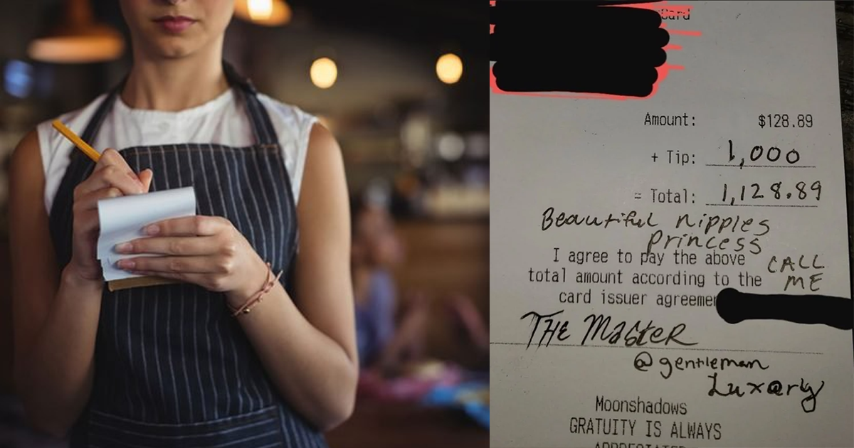 Man Leaves 'Creepy' Note Along With A $1000 Tip For Waitress.