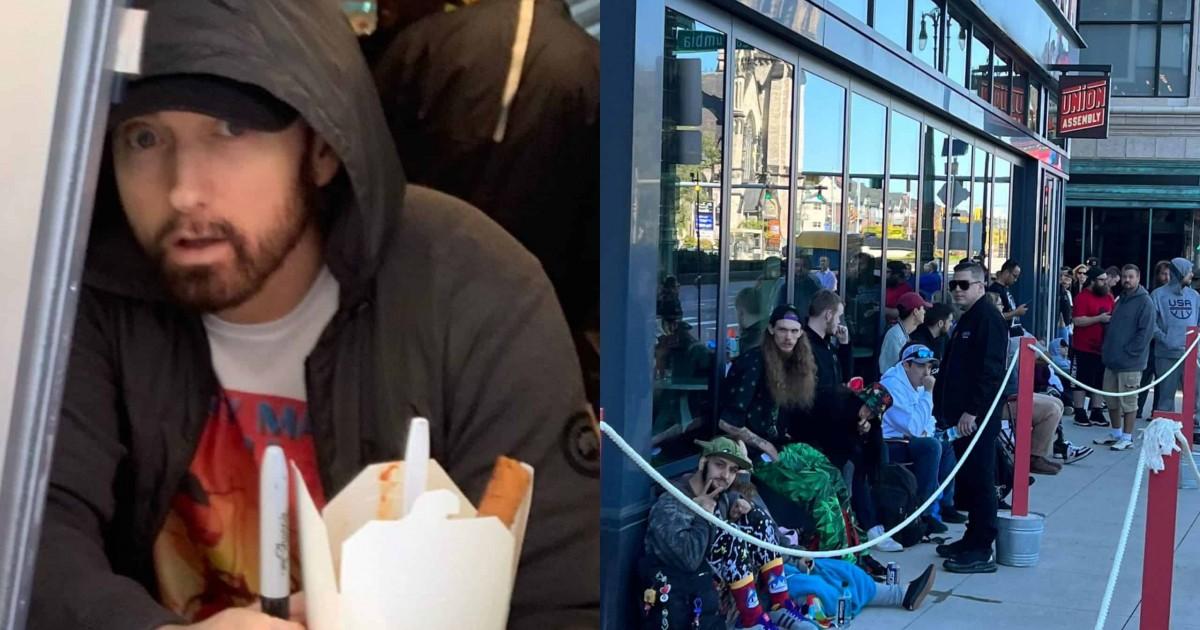 Eminem's New Restaurant 'Mom's Spaghetti' Is Open For Business.