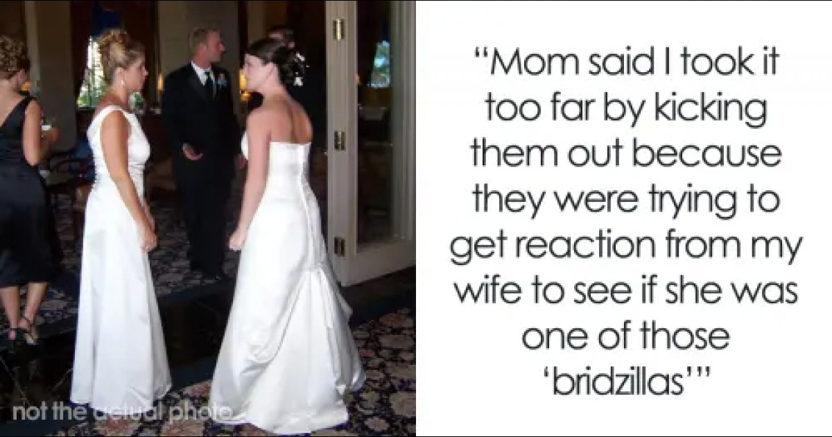Groom Throws All The Female Guests Out Of The Wedding After They All Wear White As A Prank