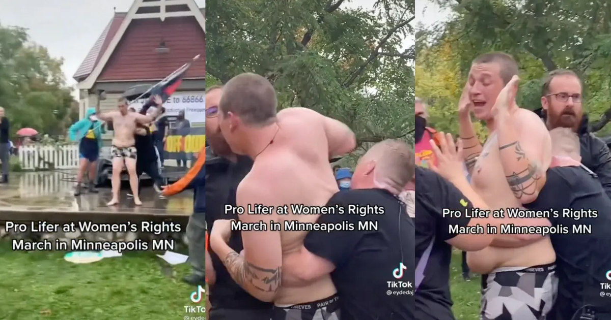 Pro-lifer Streaks Nude Through Women's March Protest