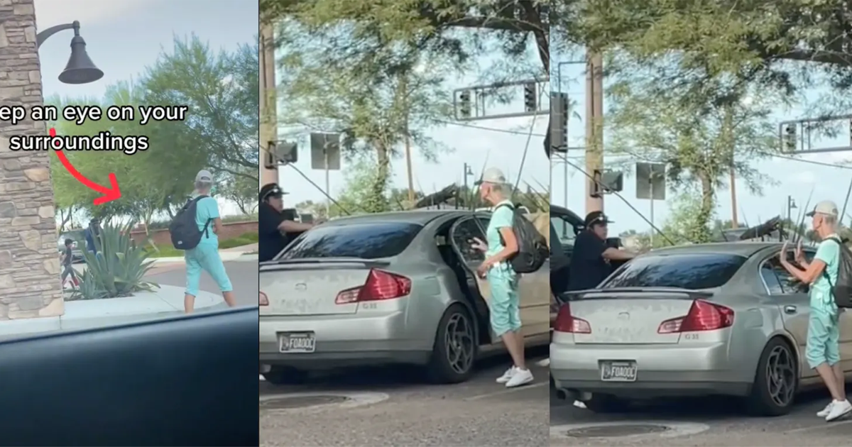 Video Shows Creepy Woman Trying To Open Car Doors & Following People