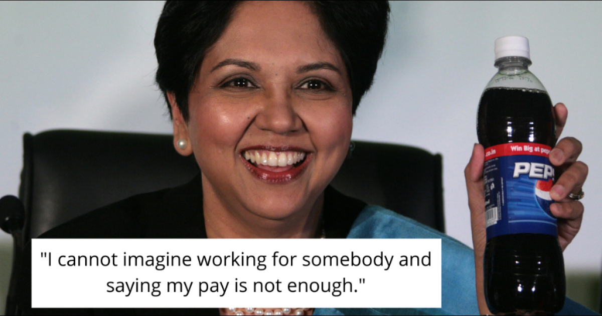Former CEO Of Pepsi Says She Finds Asking For A Raise 'Cringeworthy'