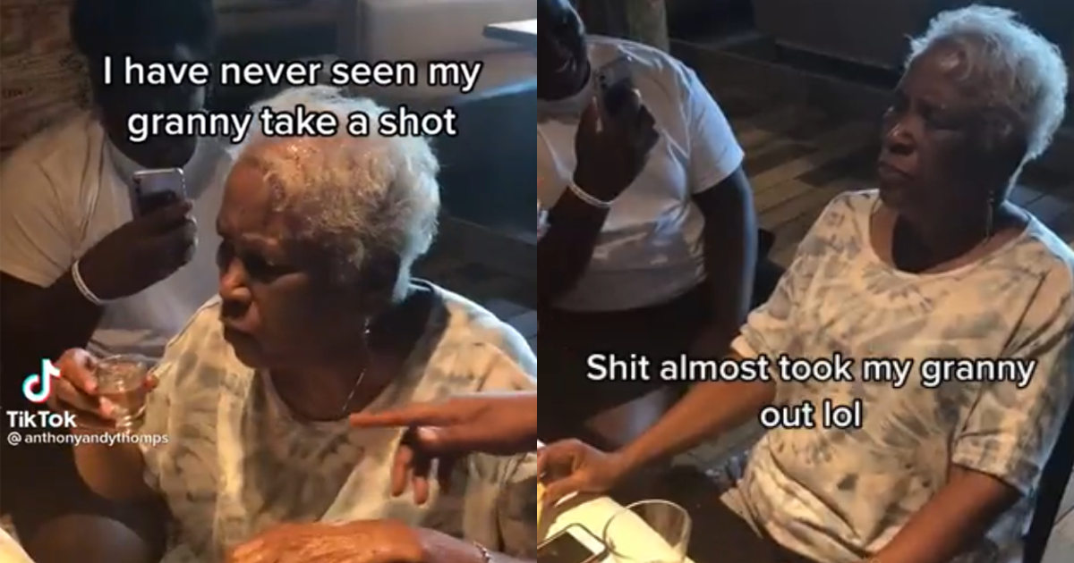 Tequila Drinking Granny Puts All The Cool Kids To Shame